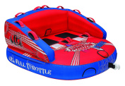Full Throttle Double Whammy 2x2 Towable Tube, Red