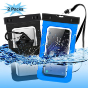 Innens Universal Waterproof Case, Outdoor Activities Dry Bag with Clip Armband Neck Strap Touch Screen for iPhone 7 / 7 Plus / Galaxy S8+ / S7 / LG / Moto / HTC Devices up to 15cm