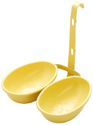 KitchenCraft Non-Stick Double Egg Poacher Cups, Yellow