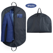 HOMFA Suit Clothes Carrier Cover Bag with Full Zipper and 2 Handles(100 x 60cm, pack of 4)