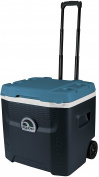 Igloo Unisex Maxcold Quantum Roller Cool Box, Jet Carbon/Ice Blue, 49 litre