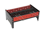 Camp Gear Unisex CA Compact Barbeque, Black/Red