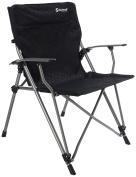 Outwell Goya Camping Chair - Black/Silver, 67 x 58 x 99 cm