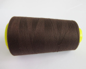 3000 Yards Coffee Dark Brown Reel 40s 2 402 Tex 27 Tickets Size 120 Spools Polyester PP SP Sewing Thread Hand Machine industrial Embroidery Yarn Quilting Serger Clothes