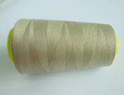 3000 Yards Sand Beige Reel 40s 2 402 Tex 27 Tickets Size 120 Spools Polyester PP SP Sewing Thread Hand Machine industrial Embroidery Yarn Quilting Serger Clothes
