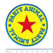 Vintage StyleParty Animal Surfer Shirt Patch 8cm - Badge - Patches - 70's - 80's - Surfing - Surf - Surfboard - Beach - Rock