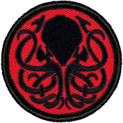 Retro Kraken Patrol Patch - 5.1cm Diameter Round Embroidered Patch