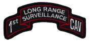 1st CAV Long Range Surveillance Scroll Patch Class A Colours - Sew-on Patch - 7.6cm - 1.6cm X 2.5cm - 1.6cm