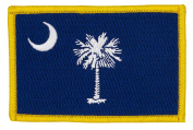 South Carolina State Flag Patch (Sew-on) Full Colour 8.9cm x 5.7cm