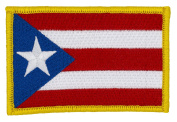 Puerto Rico Flag Patch (Sew-on) 5.7cm x 8.6cm Embroidered Patch