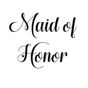 MAID OF honour VINYL HEAT TRANSFER IRON ON
