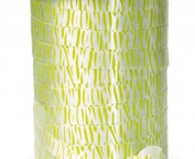 20YDS of 1.1cm Adorable Green & White ZEBRA STRIPE PRINT Poly Curling Ribbon