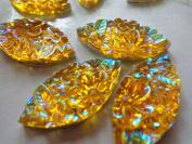 Sew on Gem Stones Golden AB Colour Rhinestones Navette Shape 15x30mmmm Flat Bottomed Resin Crystal Strass for Dress 50pcs/lot