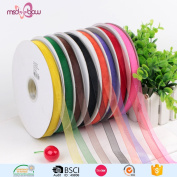 1.3cm Width×5yard ,8 colour Sheer Chiffon Ribbon Wired Edge Value Pack
