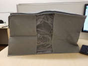 Breathable Folding Space Saving Storage Square, Large Zippered with Clear Window to See Whats Inside Easy Carry Handles Boards on Side to Keep it Upright Even When Empty Breathable Material