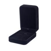 Premium Long-Pile-Velvet Jewellery Set Display Box / Necklace Gift Box -Black