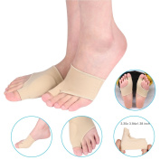 Bunion Corrector, ZJchao 1 Pair Gel Bunion Protector Sleeves Toe Metatarsal Pad and Bunion Pain Relief socks for Hallux Valgus Big Toe Corrector for Cushioning, Hammertoe Wear in Shoes