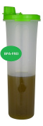 Olive Oil Oily 1 Litre Oil Bottle Kitchen Cooking Oil, Vinegar in Practical tropffrei (1000 ml) BPA Free – Made in EU