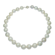 Edison Pearl Necklace 14ct White Gold 12-13mm White Freshwater Pearls Gift Boxed