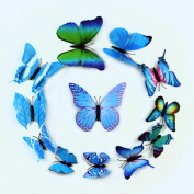 ZXYU New New Strange Simulation Butterfly Three-dimensional Butterfly Wall Stickers Refrigerator 12 Sets Of Home Decoration Wholesale,2