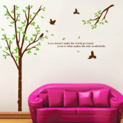 ZXYU Green Tree Children's Bedroom Bedroom Living Room Background Decoration Can Remove Wall Stickers