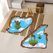 ZXYU Creative Floating Small Island Bedroom Living Room Posting Kindergarten Environment Decorative Wall Sticker Removable