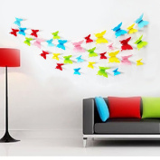 ZXYU Wall Stickers 3D Stereo Butterfly Pvc Plastic Wall Stickers Colour Room Bedroom Living Room Background Wall Decoration 12pcs,2