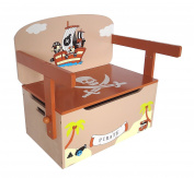 Bebe Style Children's Pirate Wooden Convertible Toy Box