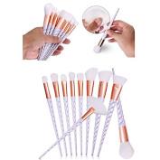10pcs Thread Rainbow Handle Unicorn Makeup brushes Beauty Cosmetics Foundation Blending Blush Make up Brush tool Kit Set