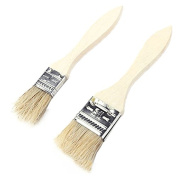 Yunhigh BBQ Basting Brush for Grill Natural Bristle Pastry Brushes with Long Wooden Handle
