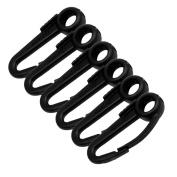 1 - Scotty Nylon Snap Hook Black 6-Pack