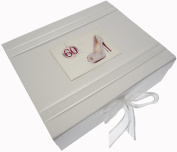 White Cotton Cards 60th Birthday Keepsake Box Glitter Ball and Shoes