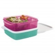 Lunch Divided Containers Tupperware Set of Two