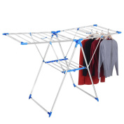 Folding Drying Rack Clothes Laundry Portable Garment Rack Hanger for Indoor Outdoor Household