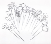 Honbay 20pcs DIY Mix Shape Ring Loop Craft Wire Clip Table Card Note Photo Memo Holder Metal Clamp Clay Cake Decoration Accessories