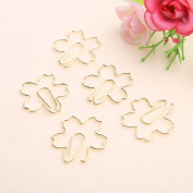 Fang sky Paper Clips, 5 Pcs Cute Metal Paper Clips Pin Book Bookmark Memo Clip Office School Stationery
