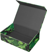 Snap-N-Store Magnetic Supply Box, 6.4cm x 14cm x 22cm , Green Dinosaurs