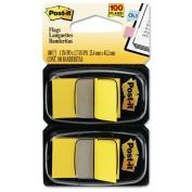 Post-it Flags - Standard Tape Flags in Dispenser, Yellow, 100 Flags/Dispenser 680-YW2 (DMi PK