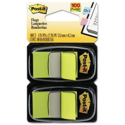Post-it Flags Products - Post-it Flags - Standard Tape Flags in Dispenser, Bright Green, 100 Flags/Dispenser - Sold As 1 Pack - Get attention and get results! - Mark and colour-code. - All flags are removable and repositionable. - With the convenient p ..