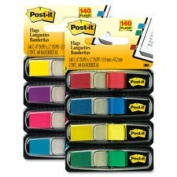 post-it-flags Small Page Flags in Dispensers, Four Colours, 35/Colour, 4 Dispensers/Pack