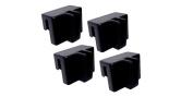 Black Plastic File Hanger Clips 4/pk #9000