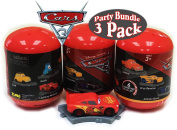 Disney Cars 3 Deluxe Mini Dioramas Mystery Capsules Gift Set Party Bundle - 3 Pack