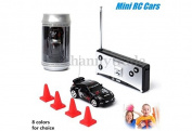 Mini Remote Control RC Racing Kids Children Coke Can Cop Stunt Toy Car No Grey Colour