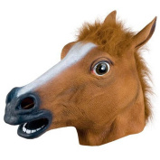 GN Enterprises - Latex Rubber Halloween Costume Horse Head Mask Christmas Party Decorations Adult Accessory