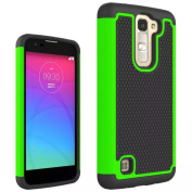 For LG K7 ,Rubber Rugged Shockproof Dual - Layers Bumpers Case