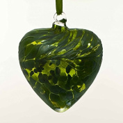 May Emerald 8cm Birthstone Glass Heart