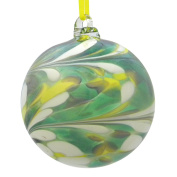 Green Yellow White 8cm Glass Friendship Ball