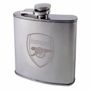 Arsenal FC Official Crest Design Chrome Hipflask (One Size)