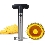 Pineapple Corer,Pineapple Cutter Pineapple Slicer Peeler Pineapple Corer Cutter, Food Grade Stainless Steel with Non-slip Handle and Serrated Blade Pineapple Corer Slicer by SAVORLIVING,Perfect Gift