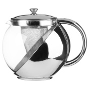 111130 Teapot with Filter Stainless Steel and Glass